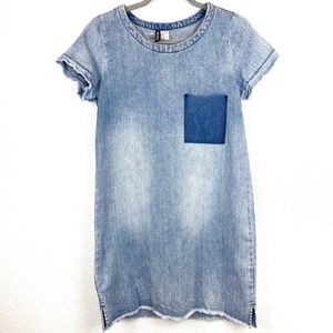 H&M Jeans Short Sleeve Mini Dress Size 4
